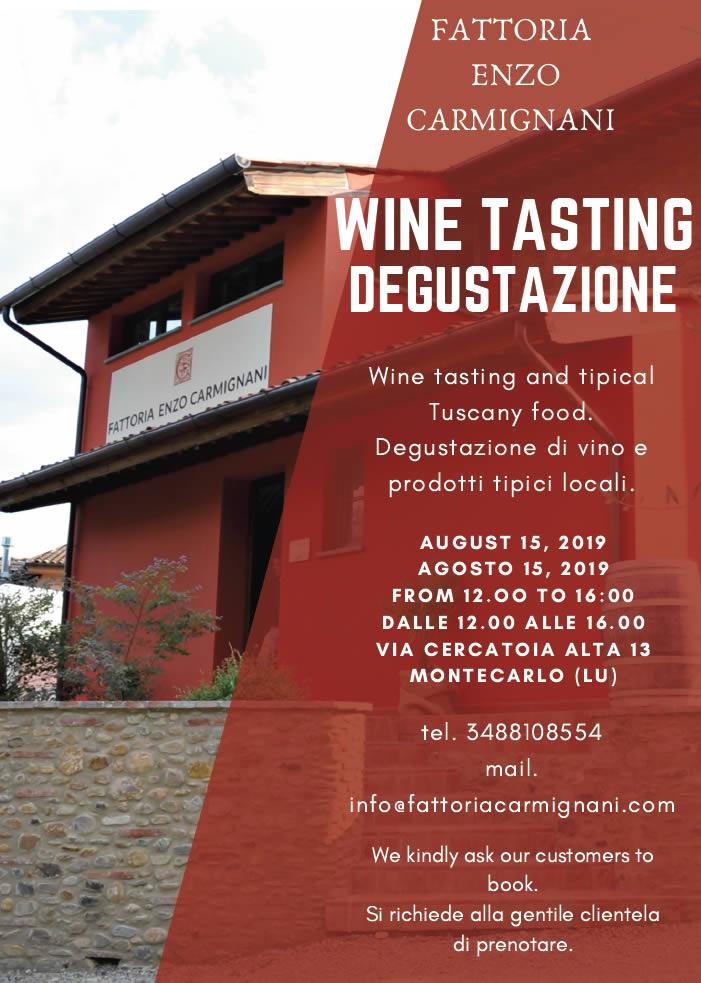 Degustazione vino di Ferragosto
